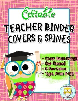 Binder Covers - Owl Theme