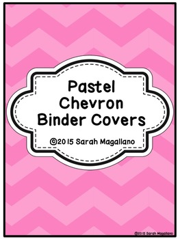 Binder Covers: Pastel Chevrons