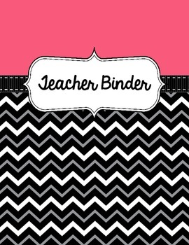Binder Covers - Pink with chevron