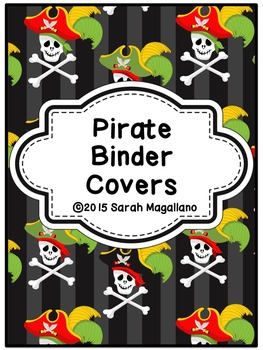 Binder Covers and Spines: Pirate Theme