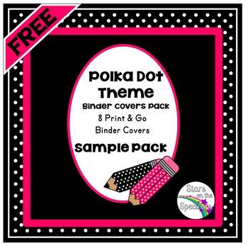 Binder Covers * Polka Dot Theme * Free