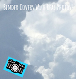 Binder Covers - Printable - Editable - Clouds From a Plane - Student Rewards