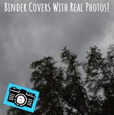 Binder Covers - Printable - Editable - Rain Clouds - Distance Learning Rewards