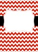 Binder Covers - Red & Black {Editable File Included}