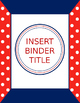 Binder Covers - Red & Navy