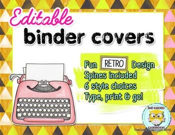 Binder Covers - Retro Theme