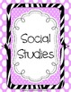 Binder Covers ~ Set of 6 Zebra with Pastel Dots