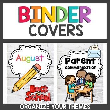 Farmhouse Classroom Decor Binder Covers