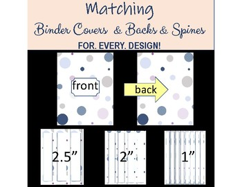 Binder Covers & Spine Inserts - Editable - Contemporary Blue - Disc Planner