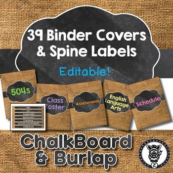 Binder Covers / Spine Labels