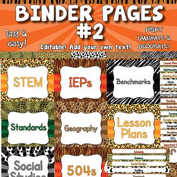Binder Covers & Spine Labels APT-001