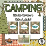 Binder Covers / Spine Labels - Camping Theme - Editable