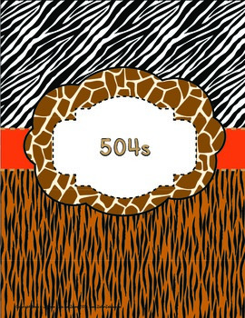 Binder Covers / Spine Labels - ZisforZebra - Animal Print - Editable!