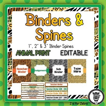 Binder Covers & Spines