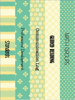 Binder Covers & Spines {Calm & Cool}