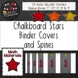 Binder Covers & Spines - Chalkboard Stars Decor