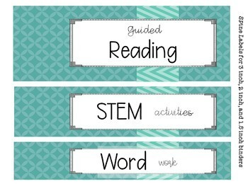 Binder Covers-Spines-Desk Name Tags Editable