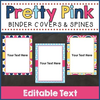 Binder Covers & Spines (Editable)