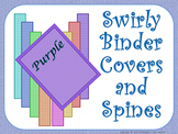 Teacher Binder Covers and Spines - Purple