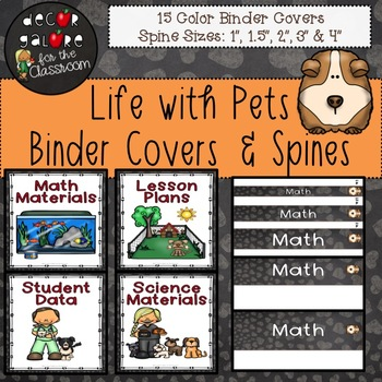 Binder Covers & Spines - Life with Pets Decor