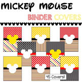 Binder Covers & Spines Mickey Mouse Theme