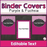 Binder Covers & Spines Purple & Fuchsia (Editable)