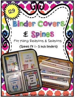 Binder Covers & Spines for Many Reasons & Seasons~ 137 Covers & Spines!
