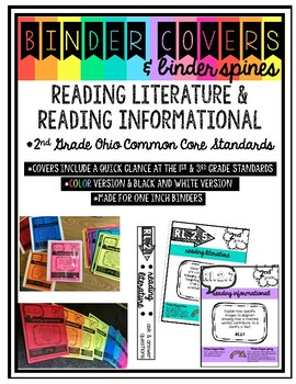 Binder Covers & Spines for Reading Standards
