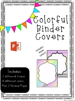 Binder Covers Stripes