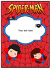 Binder Covers Super Heroes Editable!!