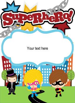 Binder Covers Super Heroes Editable!!