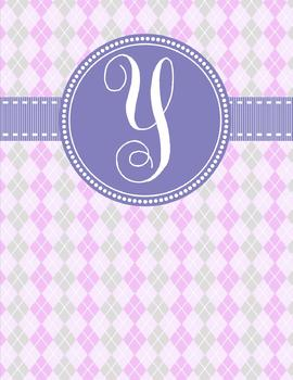 Binder Covers ~ The Argyle Collection