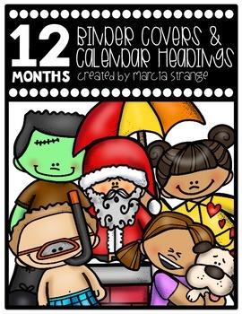 Binder Covers, Tub Storage, and Calendar Headings