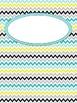 Binder Covers: Turqoise Grey Yellow Editable