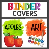 Binder Covers Watercolor Theme