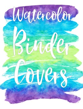 Binder Covers - Watercolor Theme - EDITABLE by Mrs Fun | TpT