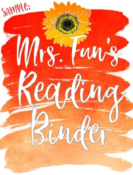 Binder Covers - Watercolor Theme - EDITABLE