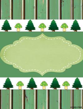 Binder Covers (Woodland Theme)