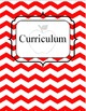 Binder Covers and Labels: Red and Black Chevron and Apples