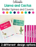 Binder Covers and Spine Labels-Llama and Cactus