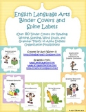 Binder Covers and Spine Labels for English/Language Arts - Over 80 covers