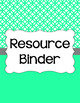 Binder Covers and Spines - Abstract Circles and White   Editable PowerPoint