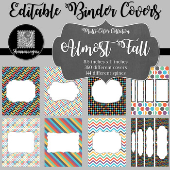 Binder Covers and Spines - Almost Fall   Editable PowerPoint