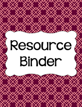Binder/Document Covers & Spines - Dual-Color: Autumn Blush