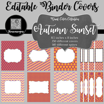Binder/Document Covers & Spines - Dual-Color: Autumn Sunset