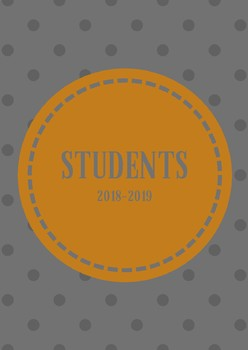 Binder Covers and Spines- BURNT ORANGE AND GRAY (2018-2019)