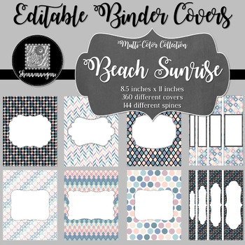 Binder/Document Covers & Spines - Multi-Color: Beach Sunrise