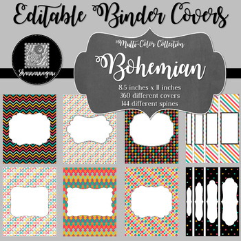 Binder/Document Covers & Spines - Multi-Color: Bohemian
