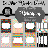 Binder Covers and Spines - Bohemian | Editable PowerPoint