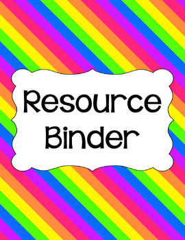 Binder Covers and Spines - Bright   Editable PowerPoint